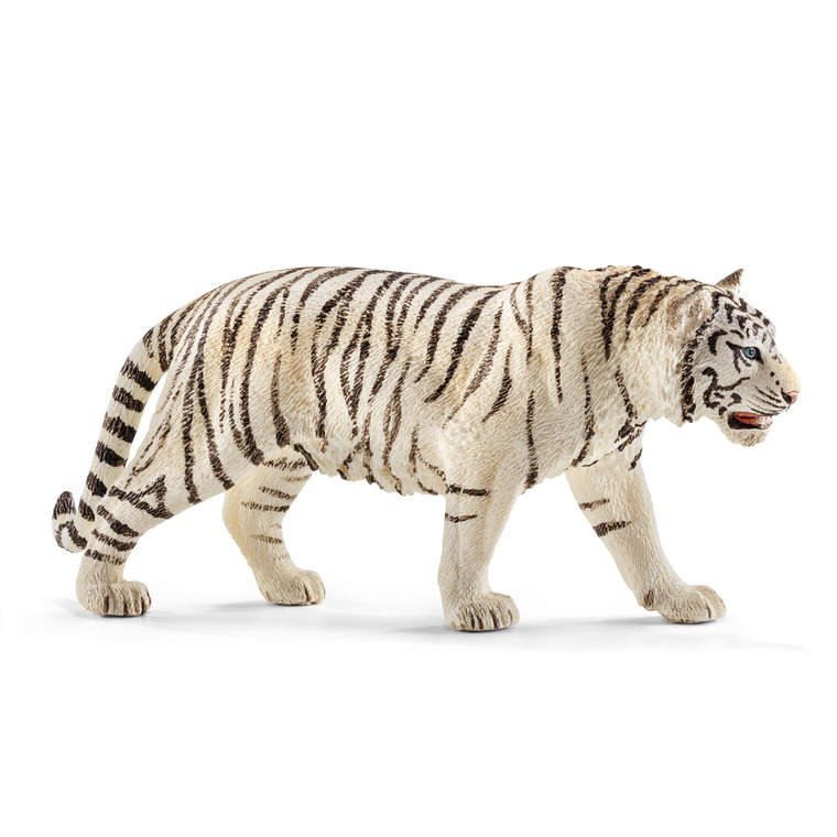 Figurine Tigre blanc mâle Série Animaux Sauvages 13x3x6 cm 245547