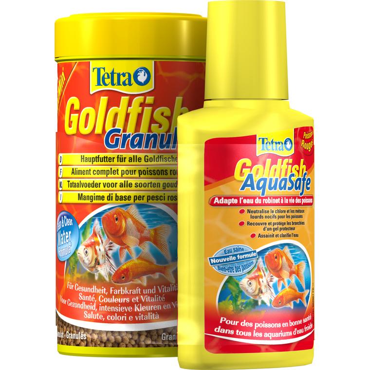 Lot Tetra Goldfish Granules 250 ml + Tetra Aquasafe 100 ml