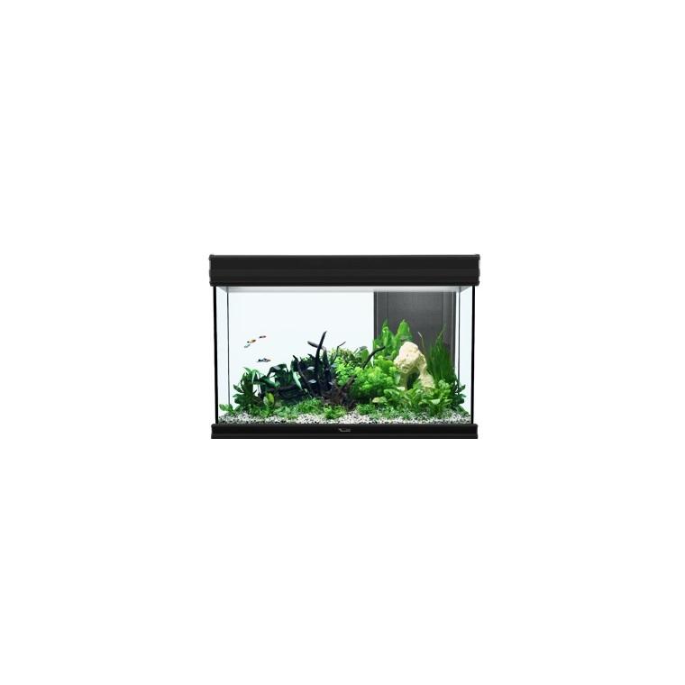 Aquarium fusion 80 avec LED H2O coloris noir 80 x 40 x 55 cm 246058
