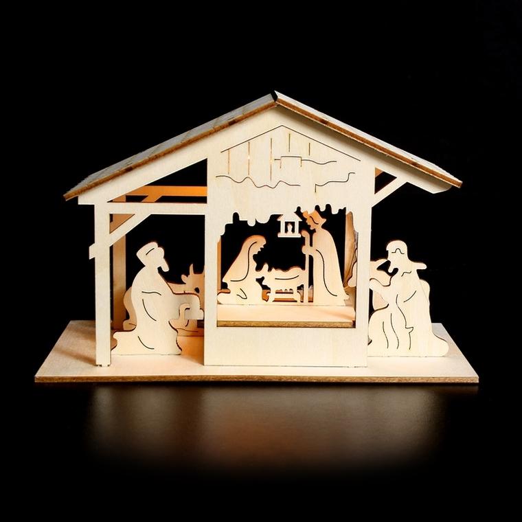 Décoration lumineuse Christmas Time Crèche 246107