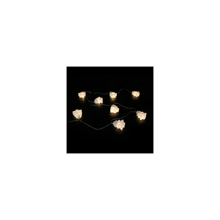 Guirlande 8 sapins 2D effet facettes 246146