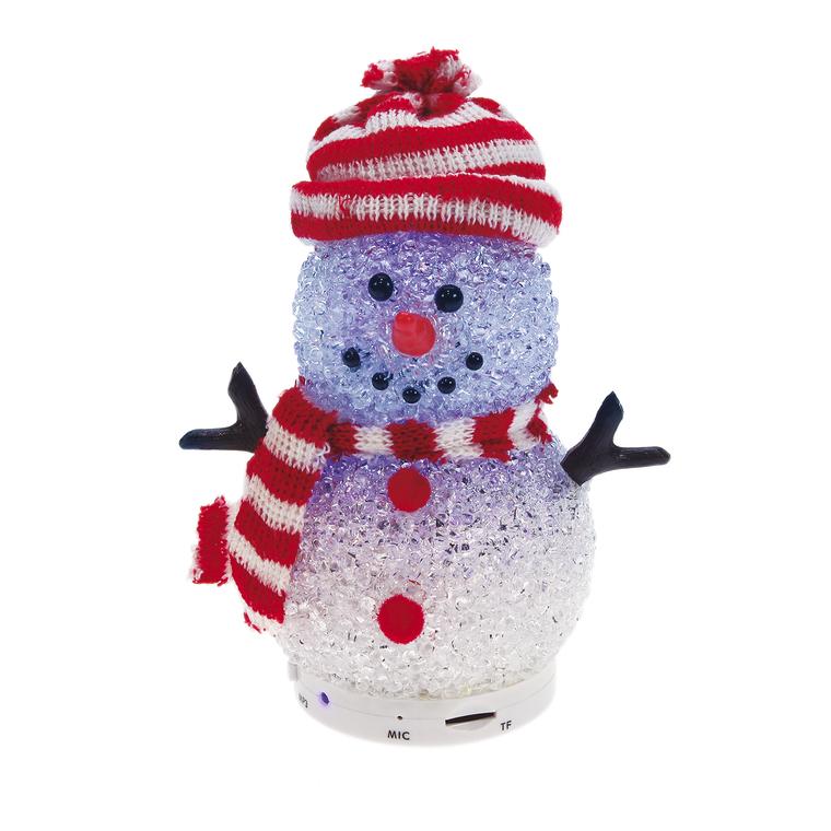 Bonhomme de neige led bluetooth® 13,5 cm de hauteur