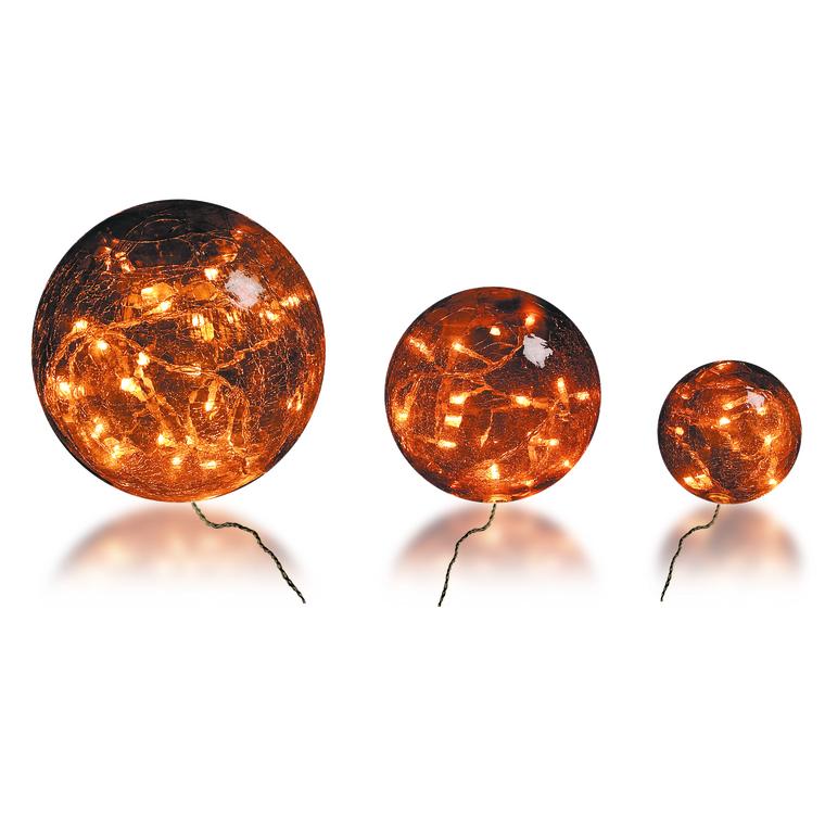 3 boules verre brun ambre 3 mètres de long 246663