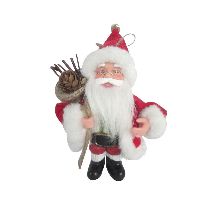 Père noël avec sac cadeaux 13 cm
