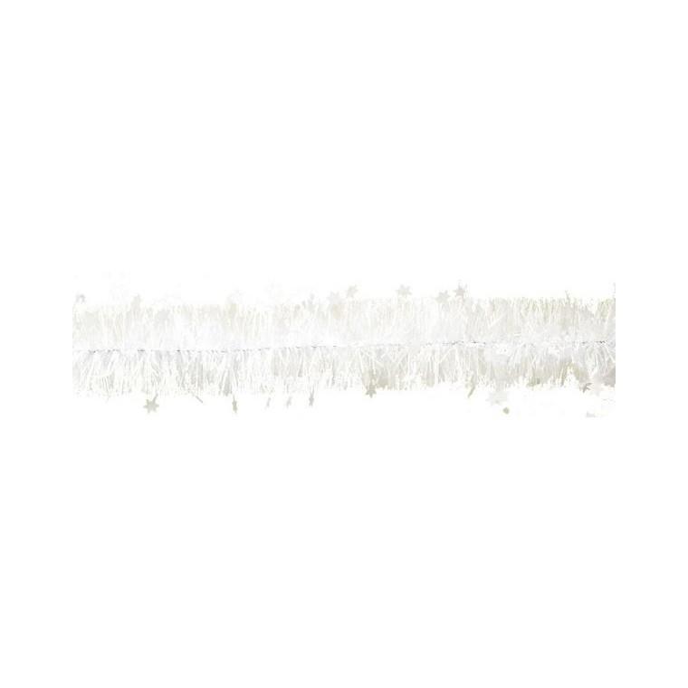 Guirlande Étoiles Plastique Ø110mm L2 m Blanc 247557
