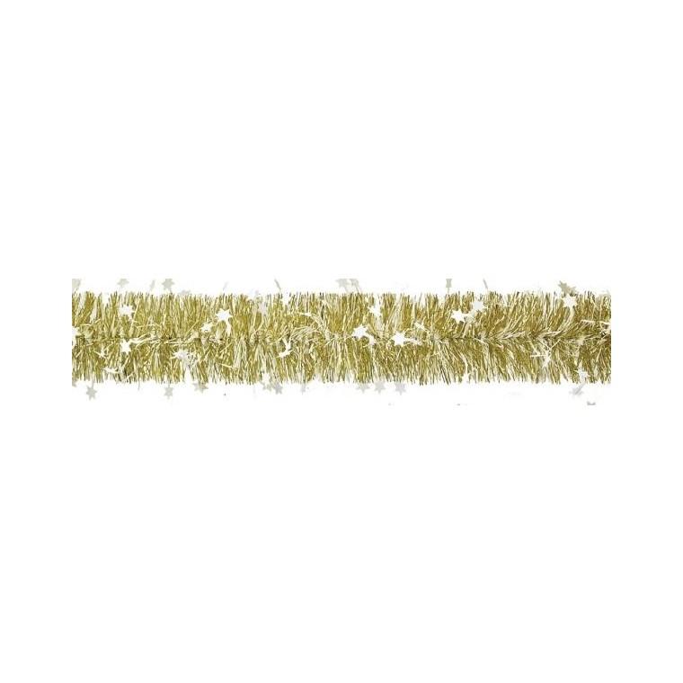 Guirlande Étoiles Plastique Ø110mm L2 m Or 247560