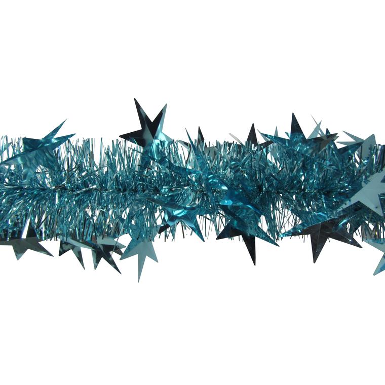 Guirlande bleue avec grandes étoiles