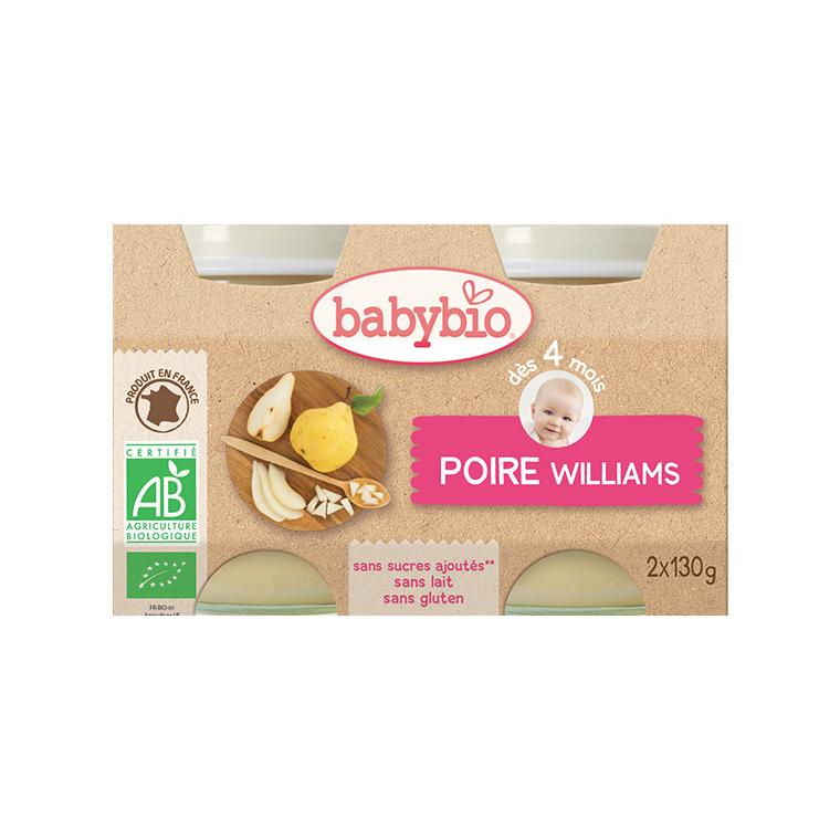 Petits pots poire williams Babybio 2 x 130 g 248204