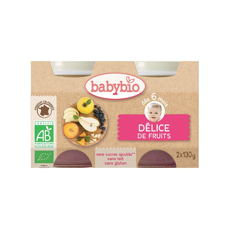 Petits pots délice de fruits Babybio 2 x 130 g 248210