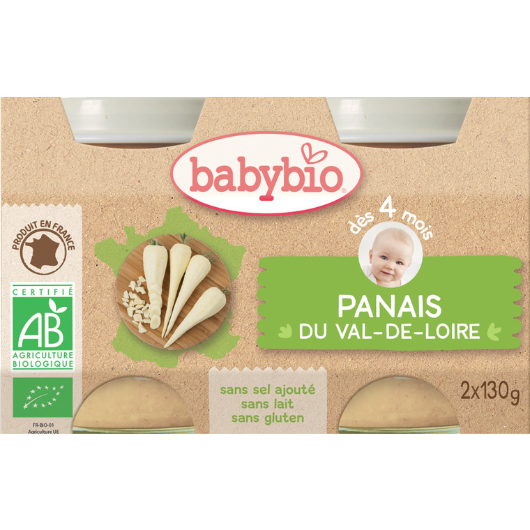 Petits pots de panais Babybio 2 x 130 g