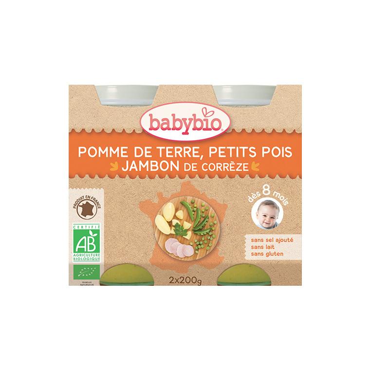 Menu du jour légumes et jambon Babybio 2 x 200 g 248223