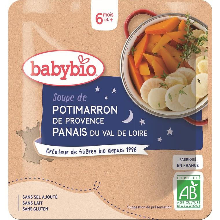 Soupe de potimarron et panais Babybio 190 g