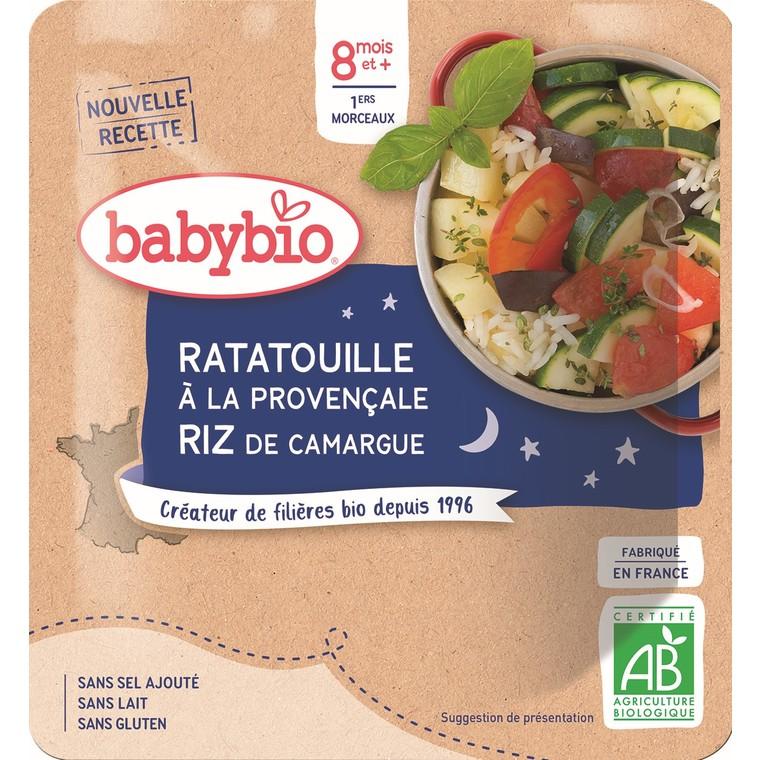 Ratatouille à la provençale et riz bonne nuit Babybio 190 g