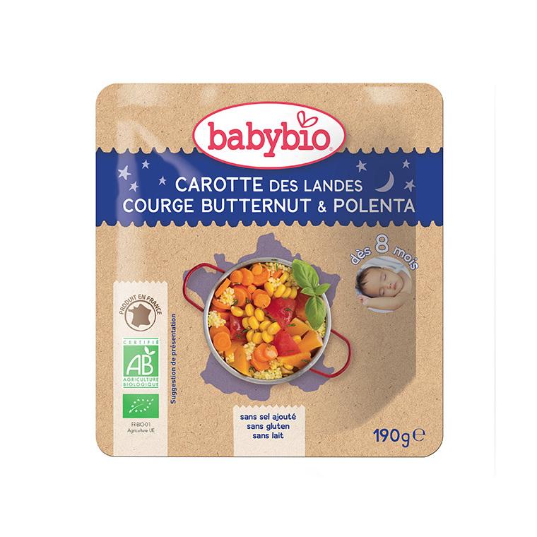 Carotte des Landes potimarron et riz bonne nuit Babybio 190 g 248237
