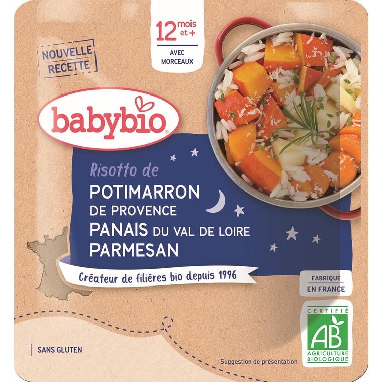 Risotto de potimarron bonne nuit Babybio 190 g