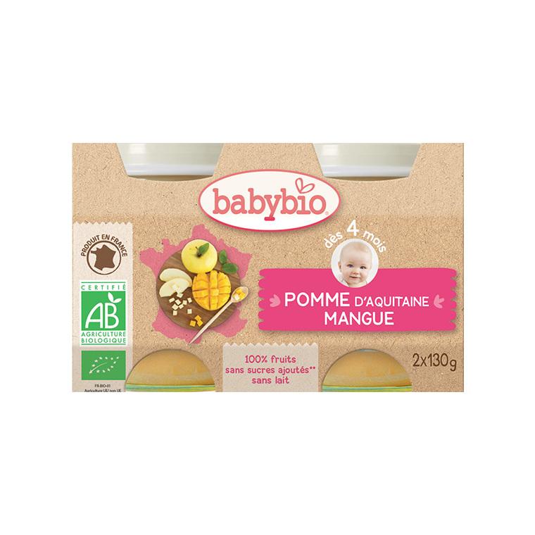 Petits pots pomme mangue Babybio 2 x 130 g 248242