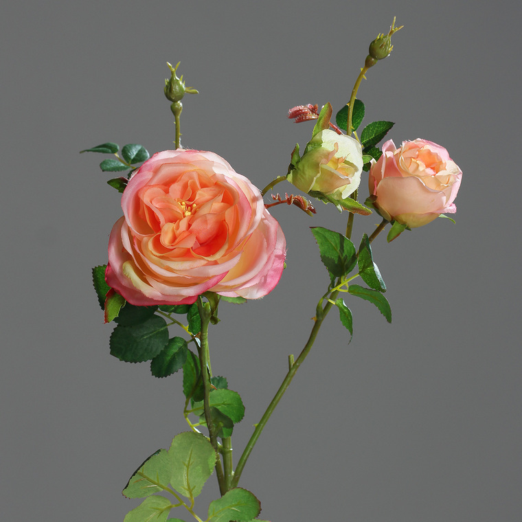 Rose x2 boutons 60 cm 249703