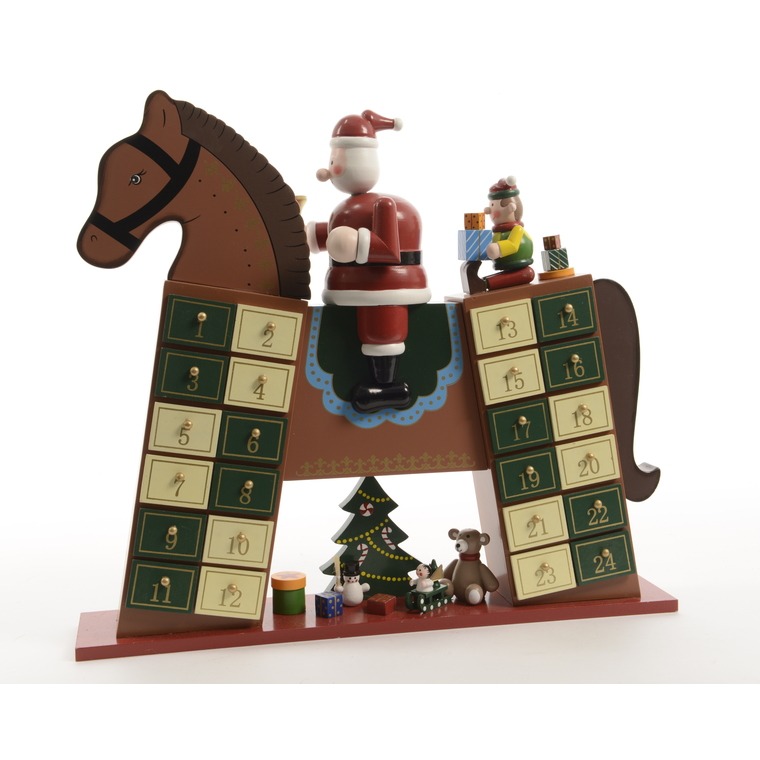 Calendrier Avent cheval MDF 250097