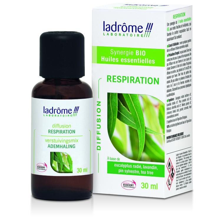 Huile essentielle bio à diffuser respiration Ladrôme - 30 ml 250568