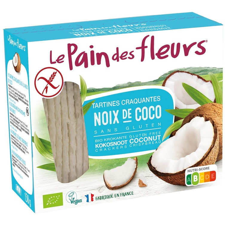 Tartines craquantes noix de coco 150 g PAIN DES FLEURS 250588
