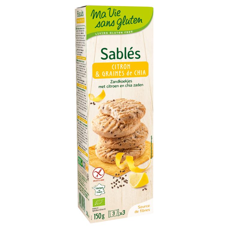 Sablés citron et graines de chia 150 g MA VIE SANS GLUTEN 250773