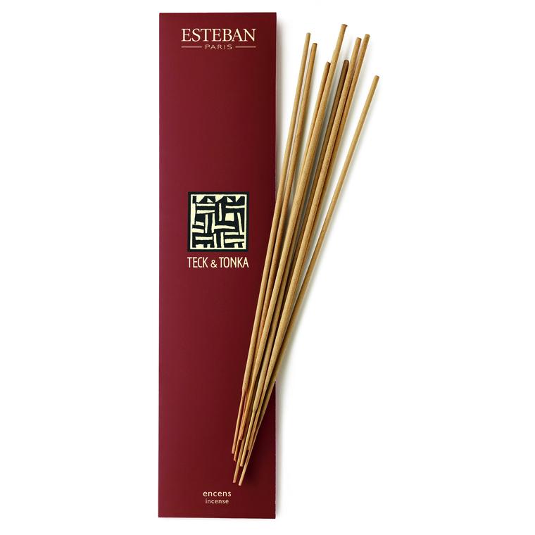 Encens Indiens au Teck et Tonka Esteban - 20 bâtonnets