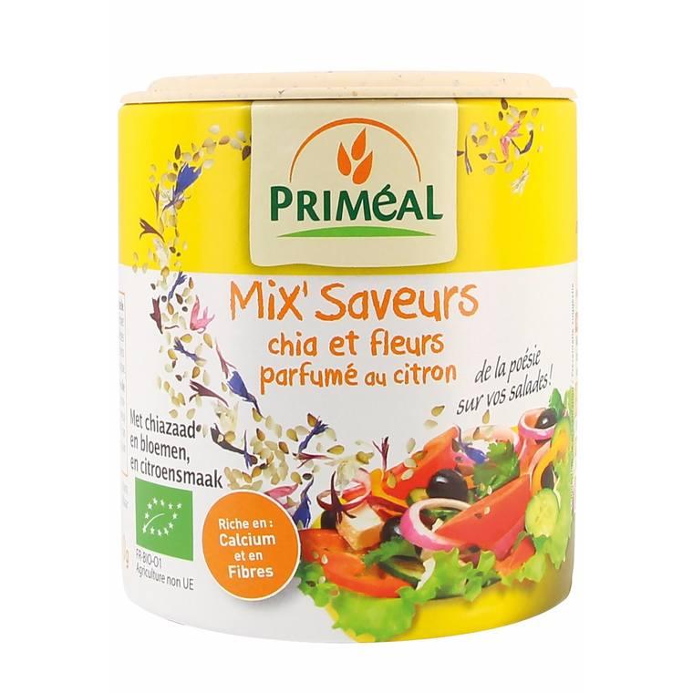 Mix saveurs chia et fleurs parfumées au citron - 100 gr