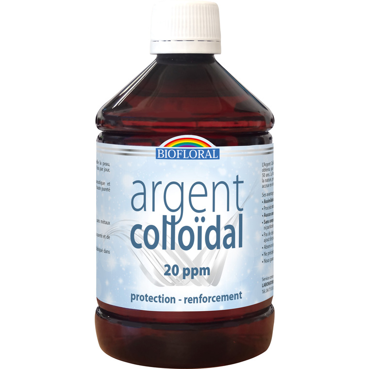 Argent Colloïdal 20 PPM - 500 ml 255648