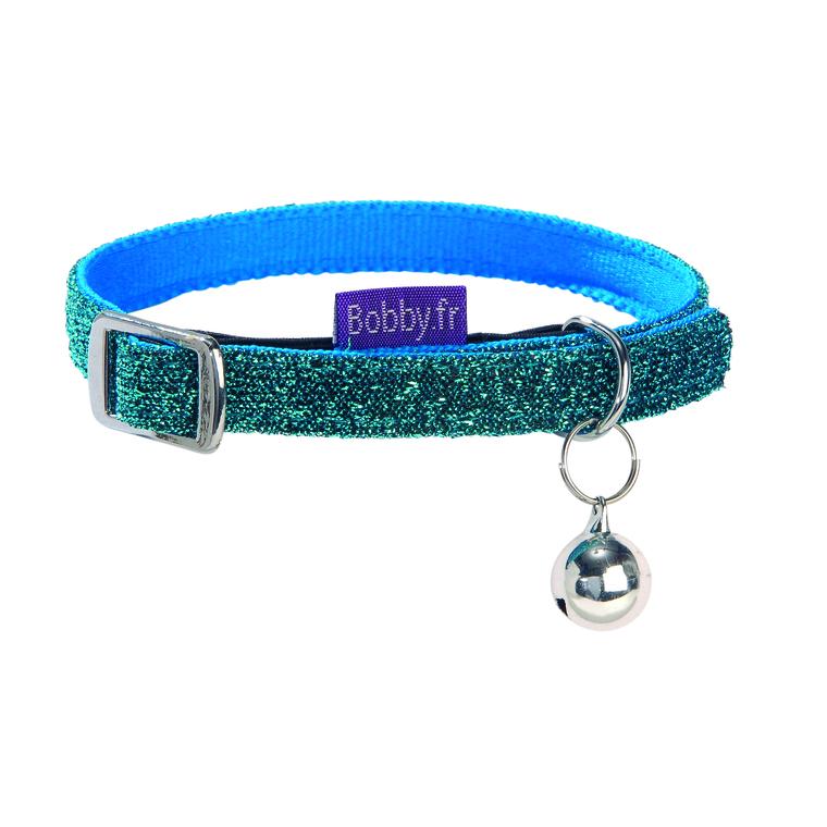 Collier chat disco bleu XS 257368