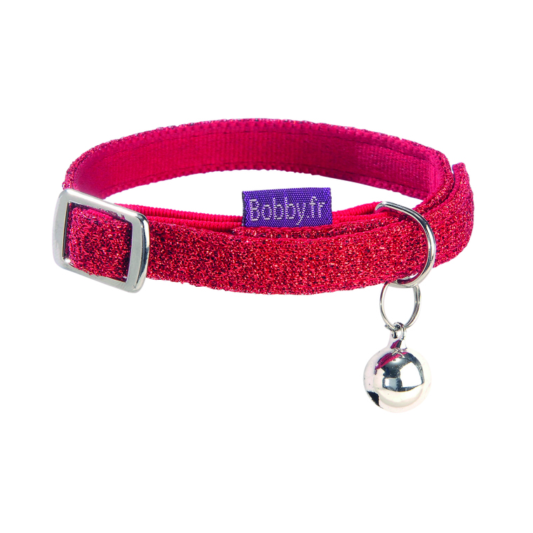Collier chat disco rouge XS 257379