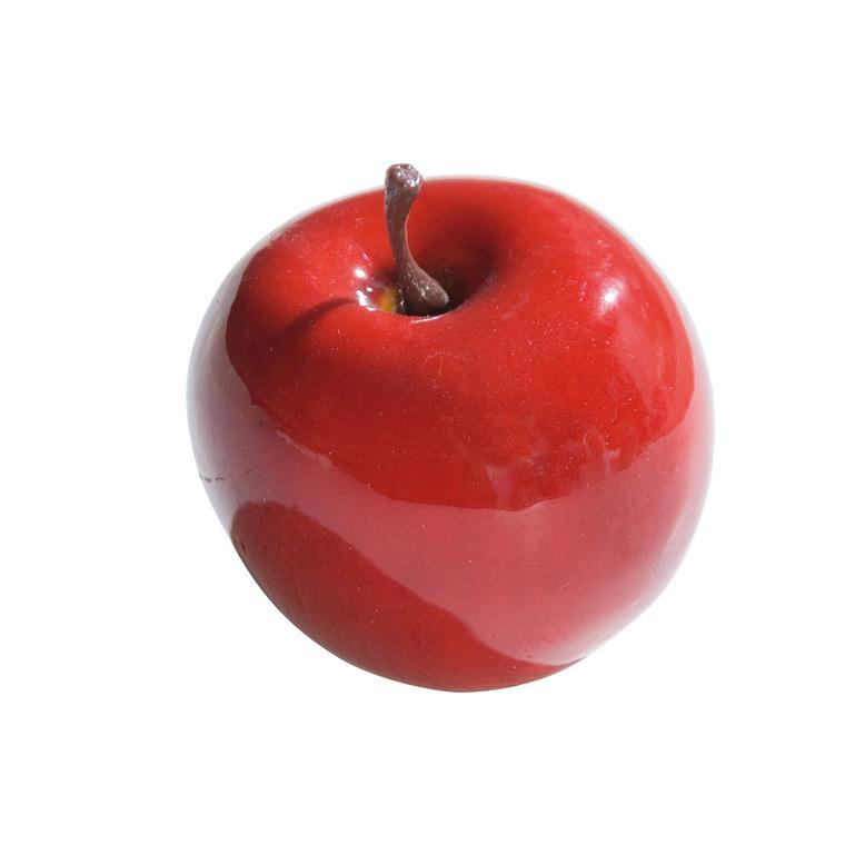 Pomme rouge laqué à suspendre Ø 6,5 cm 25758