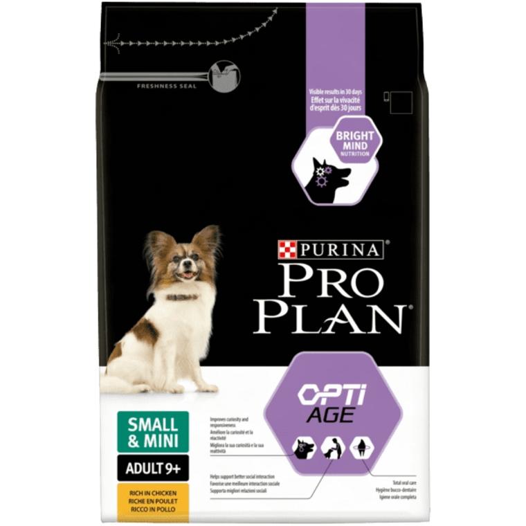 Croquettes pour petits chiens adultes de +9ans – sac 3 kg 257598