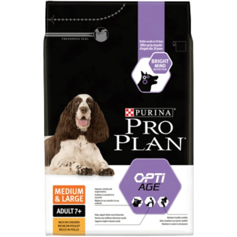 Croquettes pour chiens de taille moyenne et large Optiage +7ans – sac de 14 kg 257617