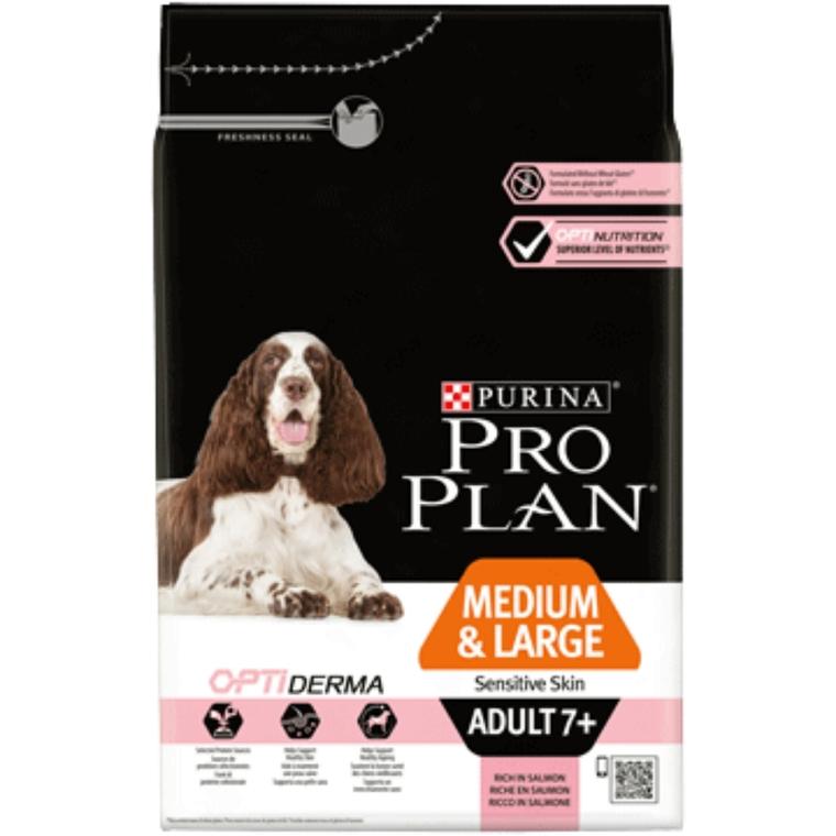 Croquettes chien 7 ans + moyenne et grande taille peau sensible 3 kg 257618