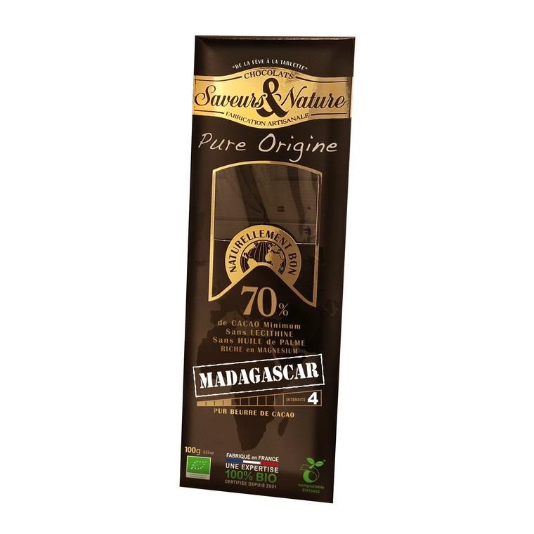 Tablette de chocolat noir 70% Madagascar 100 g