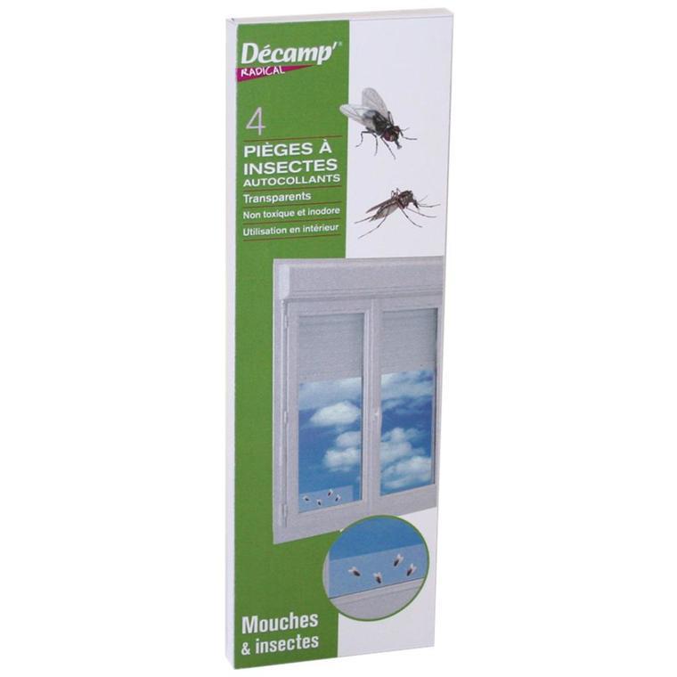 Piège à mouches fenêtres transparent x 4