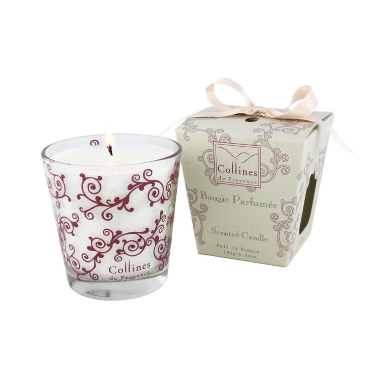 Bougie parfumée 180 g Fleur de Lin en boîte cadeau GM