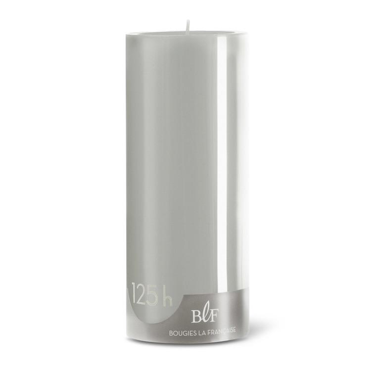 Bougie cylindrique teintée grise 8 cm x 20 cm 258519