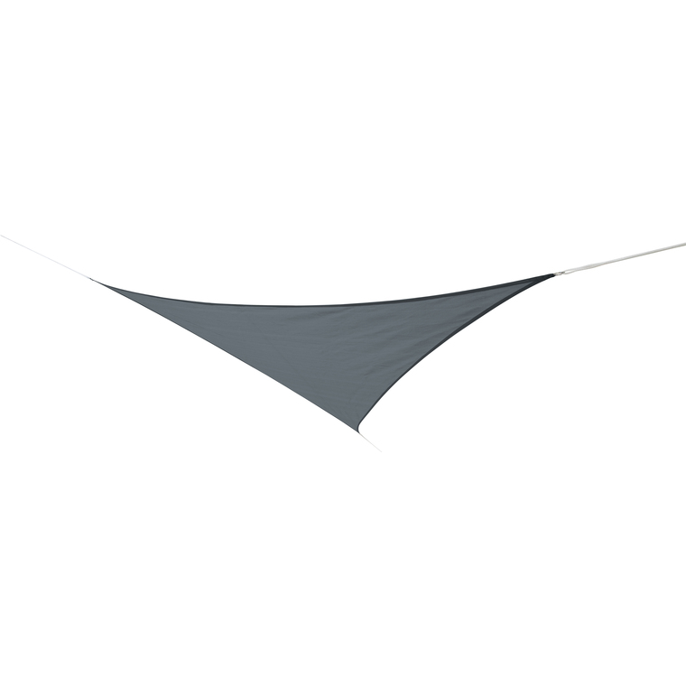 Voile d'ombrage 3,6 m triangulaire ardoise