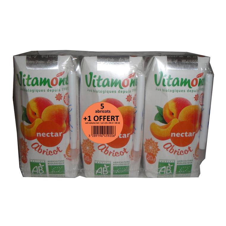 Nectar d'abricot bio en Promo - 6 x 20 cl 258553