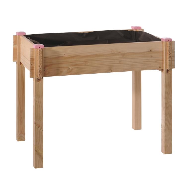 Potager surélevé en bois pour enfant 90x60x74cm 258579