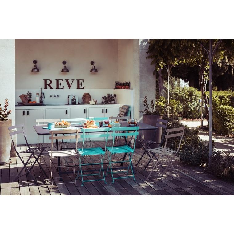 Chaise pliante d'extérieur couleur bleu lagune 258997