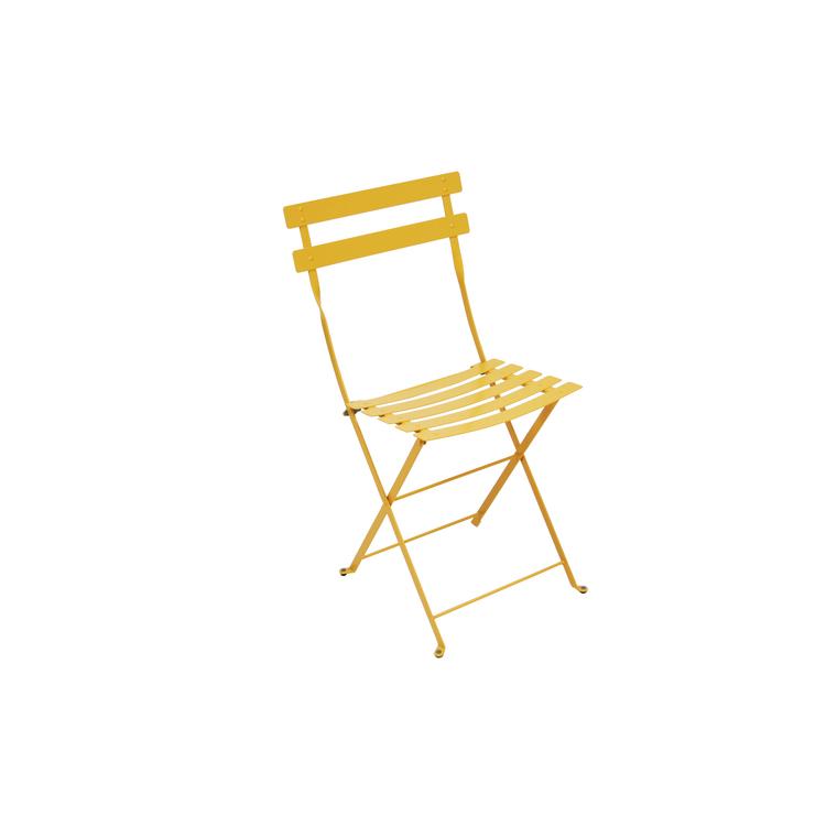 Chaise pliante d'extérieur couleur miel 258998