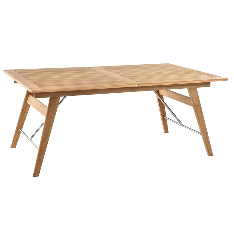 Table en teck rectangulaire à rallonges COSTA 180/240 x 110 x 74 cm 259668