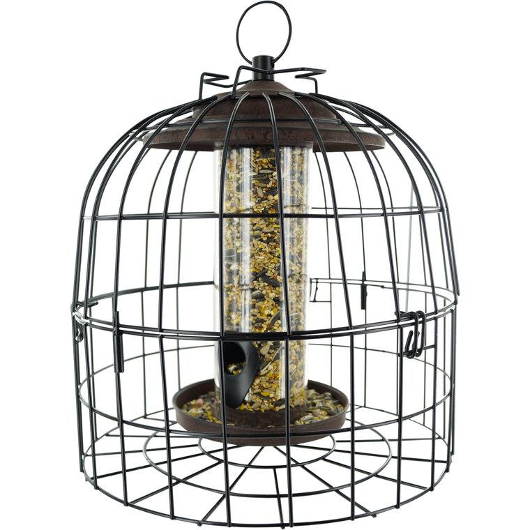 Cage de protection anti-étourneaux noire en métal Ø 27,5 x 25 cm 259704