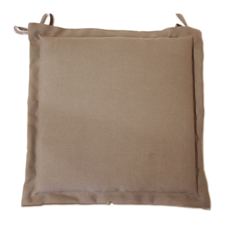 Galette d'assise taupe en polyester 40 x 40 cm 259735