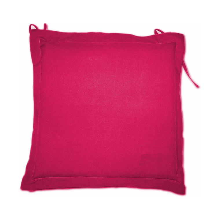 Galette d'assise framboise en polyester 40 x 40 cm 259736
