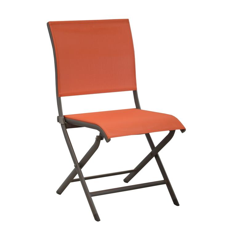 Chaise pliante ELEGANCE café/paprika 259773