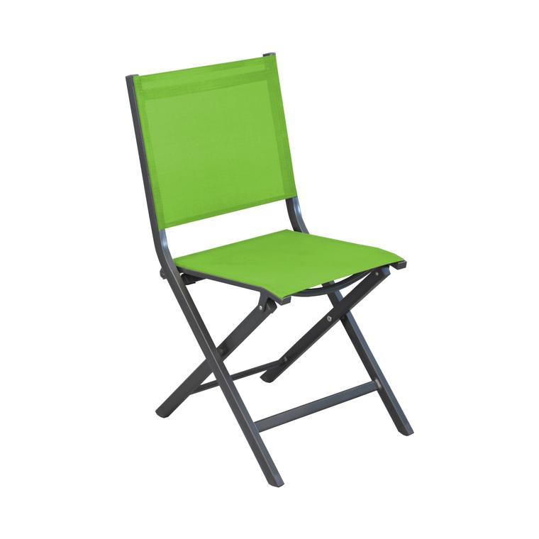 Chaise pliante Max en aluminium verte 90 x 45 x 52 cm 259814