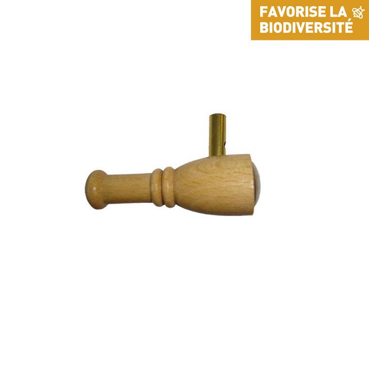 Appeau mésange hupee en bois de couleur beige 260273